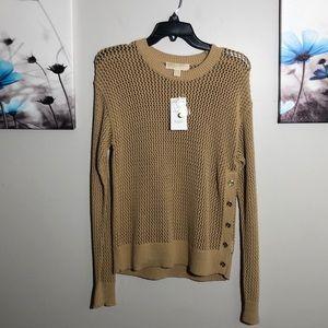 Michael Michael Kors Khaki Long Sleeve Sweater